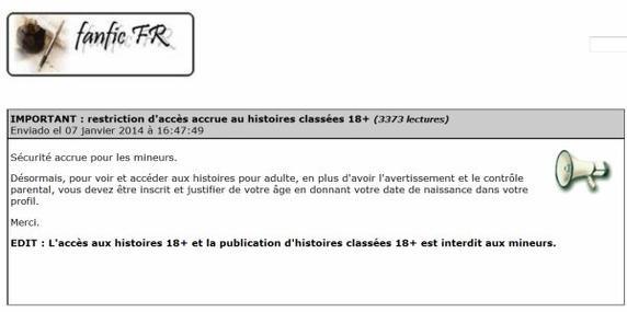 Pour celles (et ceux ?) qui auraient loupé un épisode : MàJ fanfic.fr