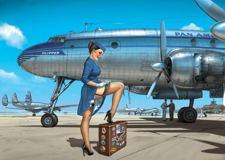 Pilote ma ligne de vol, hôtesse parée au départ !