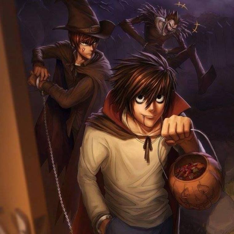 Même dans Death Note sa fête halloween :')