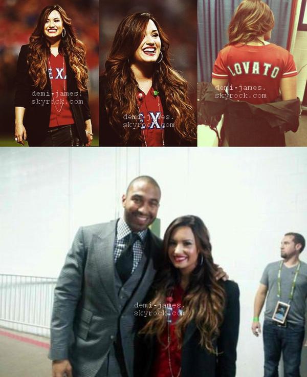Demi a chanter l'hyme national pour une équipe au texas