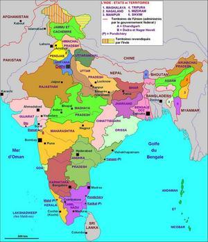 Les différents Etats en Inde