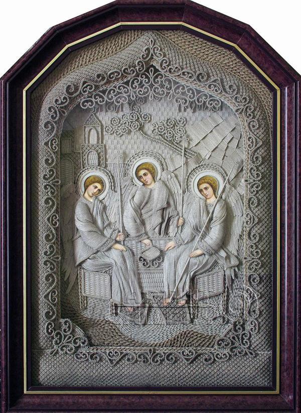 Arta aplicata in macrame -  Icoane religioase rusești