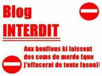 Blog interdit o bouffons