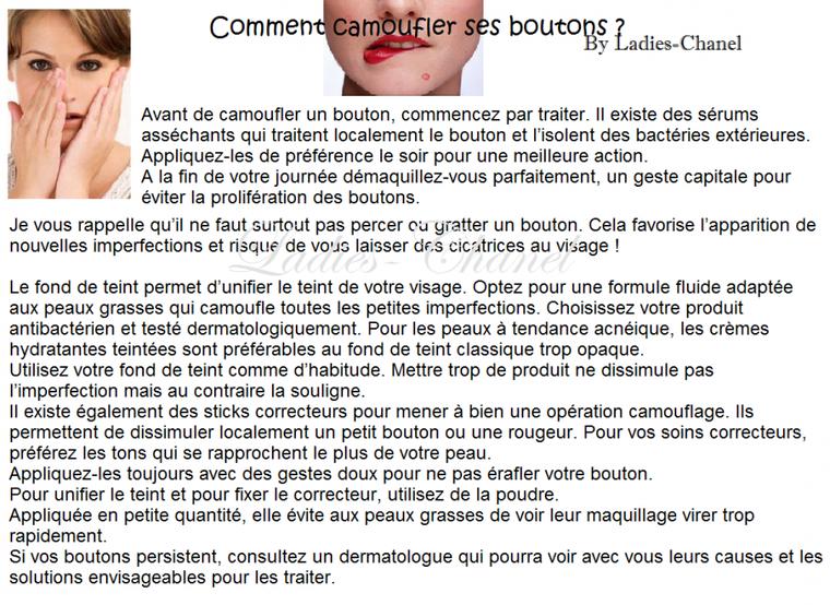 Rubrique Beauté : Comment camoufler ses boutons ?