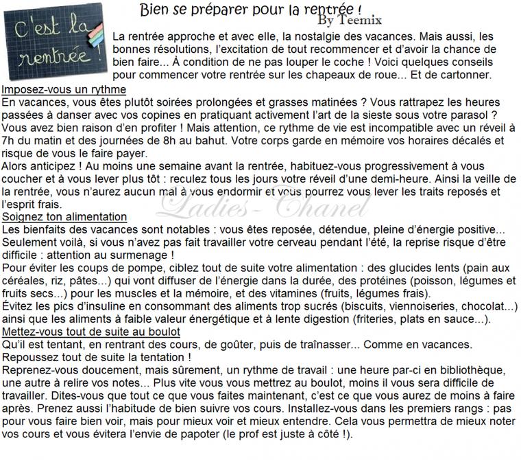 Rubrique Conseils & Astuces : Bien se préparer pour la rentrée ! By Teemix