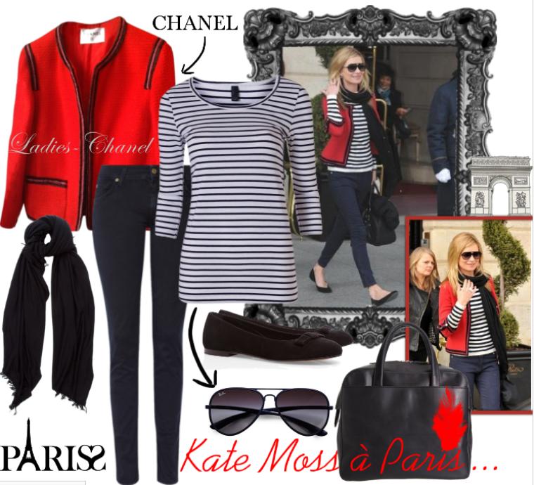 Rubrique Mode : Kate Moss à la Parisienne...