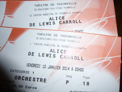 ~ Spectacle : Alice de Lewis Carroll