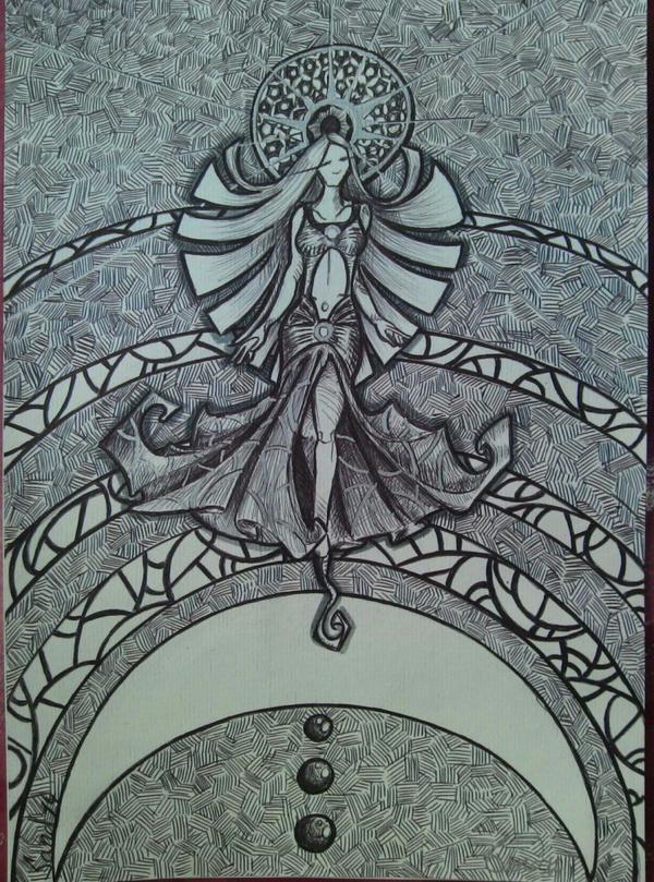 Atelier gribidouillage ~ MoonWoman