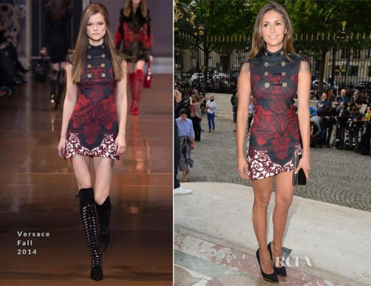 Aperçu au Defilé de Atelier Versace : Jennifer Lopez et Nina Dobrev