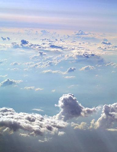 In den Wolken...