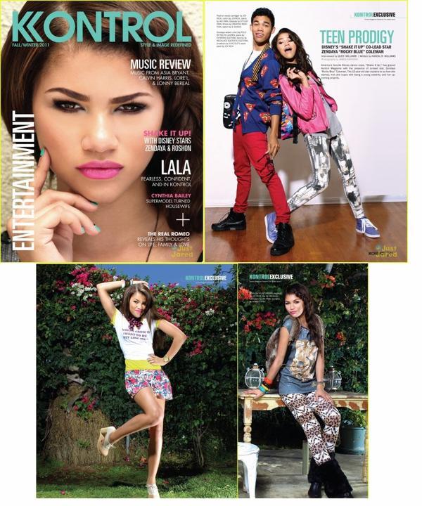 Zendaya posant pour Kontrol Magazine