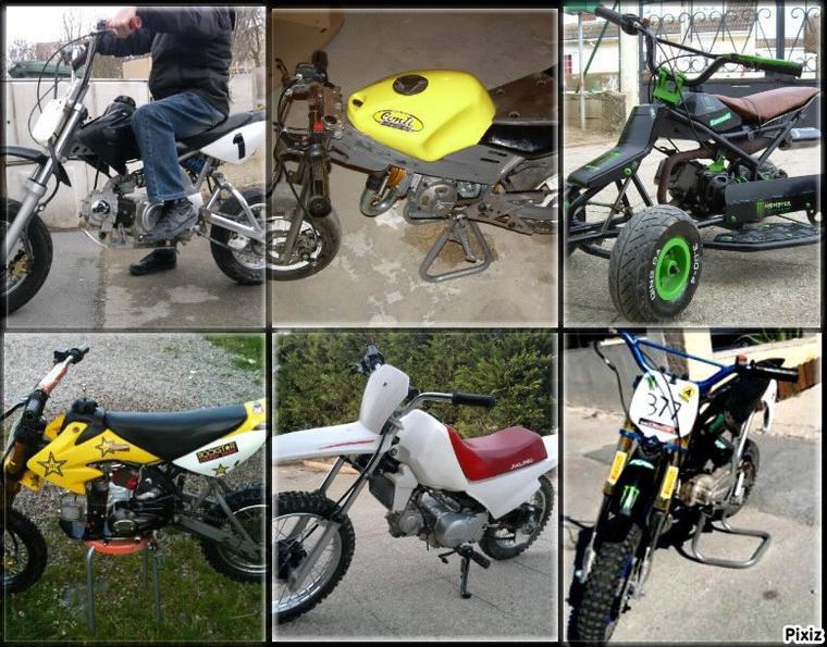 petit montage avec toute nos motos :D