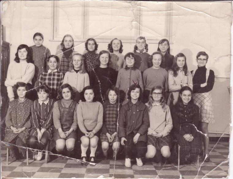 Art 1520 : Une classe de l'école Marie Curie en 1970