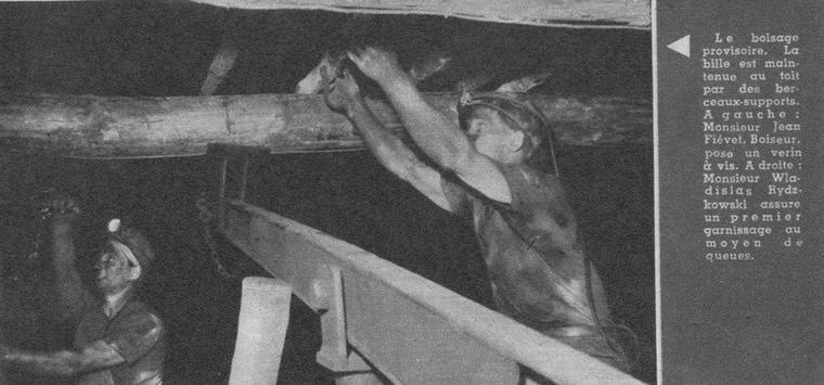 Art 1527 : Le boisage à la fosse 7 de Vermelles