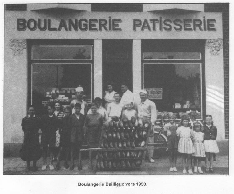 Art 1554 : La boulangerie Baillieux vers 1950