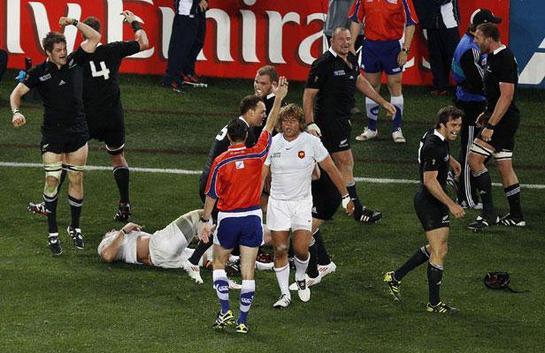 23 octobre 2011 - Finale Nouvelle Zélande 8 - 7 France