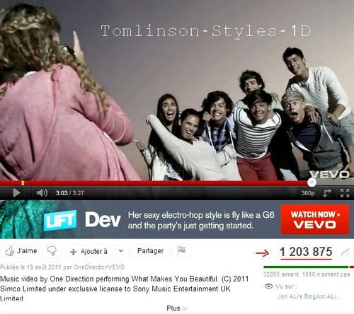 Le nouveau clip des 1D, What makes you beautiful, dépasse le million de vues sur Youtube.