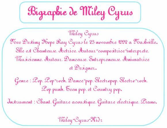 Biographie de Miley Cyrus