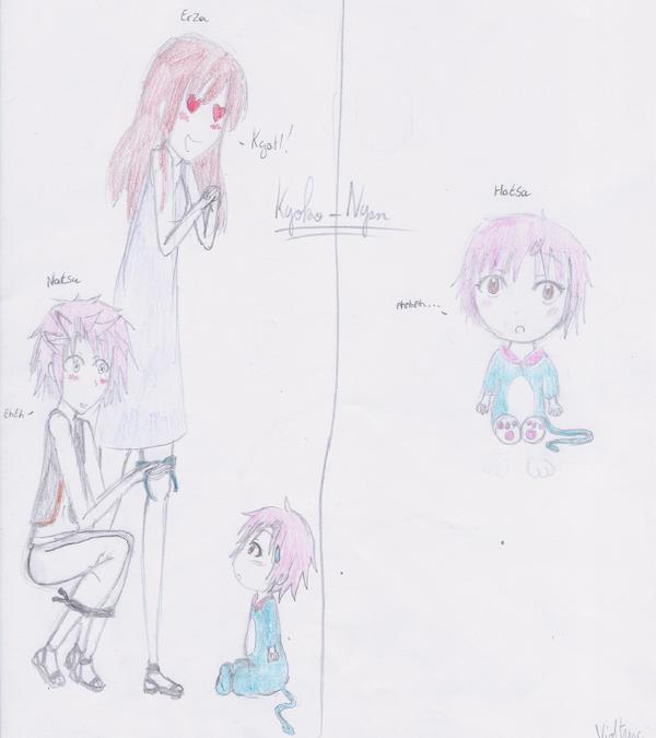 Voila un dessin de Natsu x Erza et de leur fille Hatsu !!! X3