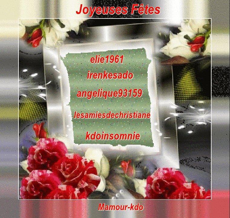 (l) (l) KDO DE NOEL DE MES AMIES MAMOUR-KDO, CYCLO-ROLAND21, STELLABLUE83, ROMANTIQUEMOI, TENDRESSMAMY (l) (l)