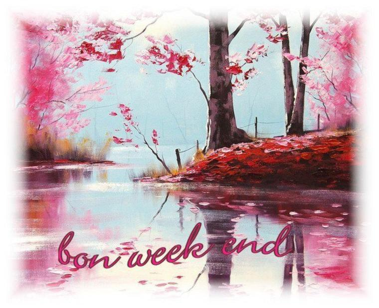 (l) (l) AGREABLE WEEK-END A VOUS MES AMIS(ES) (l) (l)