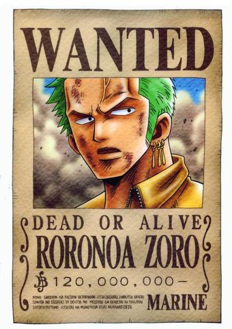fiche identité Zoro