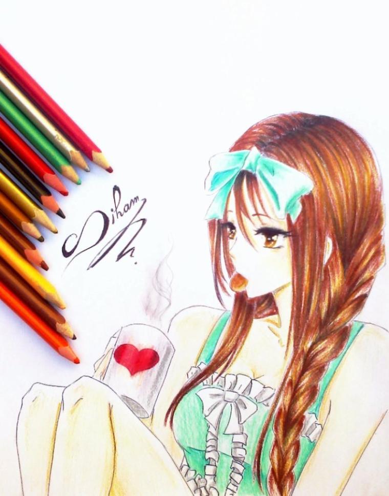 girl manga ( fait par Siham Bouyerbou )