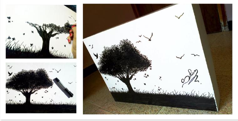 dessin arbre ( fait par Siham Bouyerbou )