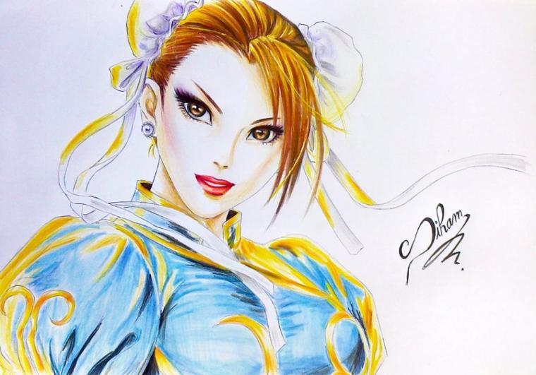 Chan li ( dessin fait par Siham Bouyerbou )