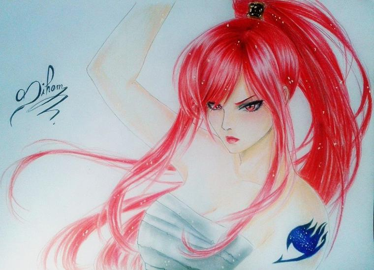 Erza ( by siham bouyerbou )