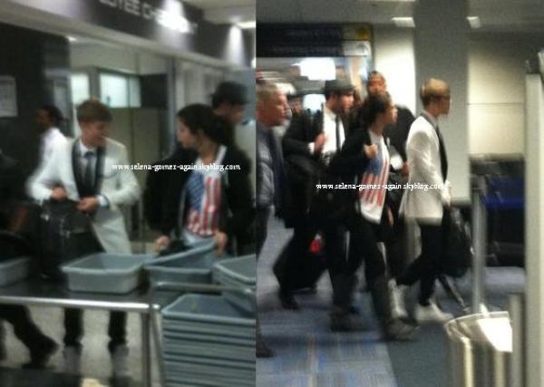 11/12/11 : Selena et Justin Bieber quittant Washington pour retourner à Los Angles ( retard)