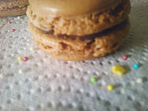 Macarons au chocolat: résultat