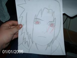 un petit dessin de sasuke