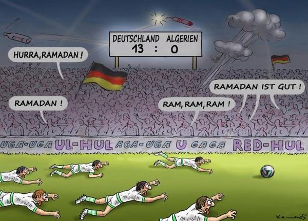 Huitièmes de finale Coupe du monde 2014 : Allemagne-Algérie : pas de ramadan pour l'Algérie