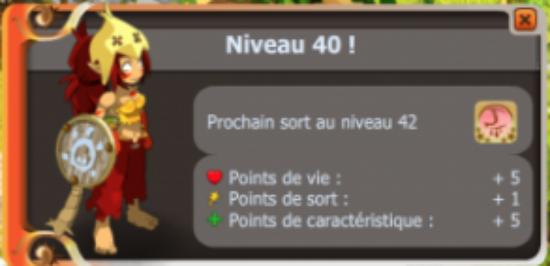 UP lvl 40