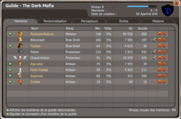 "Ma nouvel et propre Guilde ""The Dark Mafia"""
