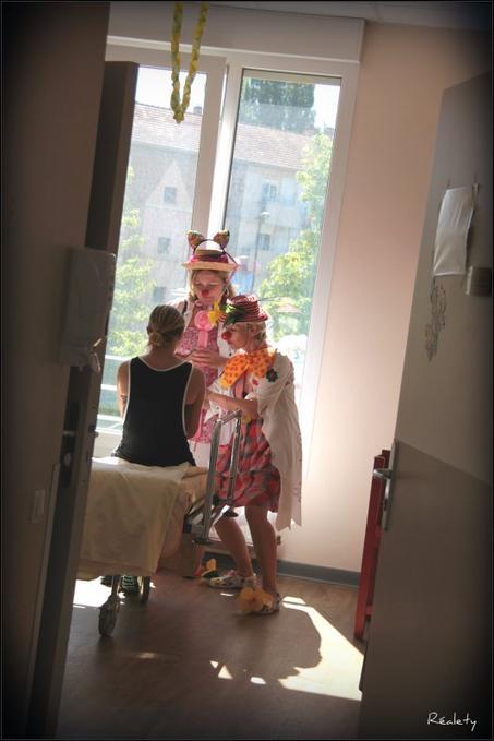 Une visite de clowns à l'hôpital…