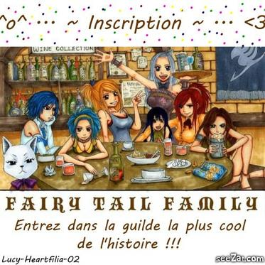 Inscription pour une de ma futur fiction sur Fairy Tail ( la 2ème !! mdr )