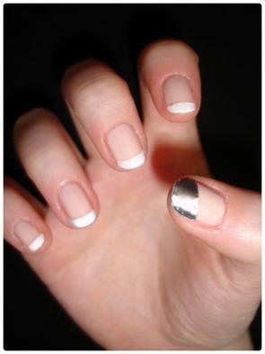 Nail art : Métaliquement french