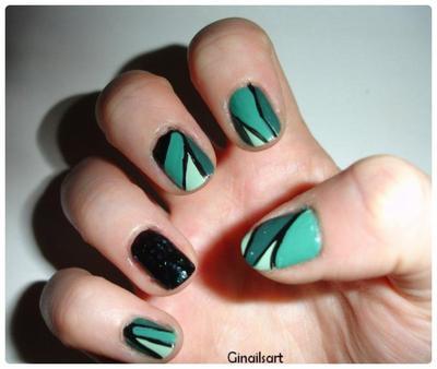 Nail art : Végétal Nocturne