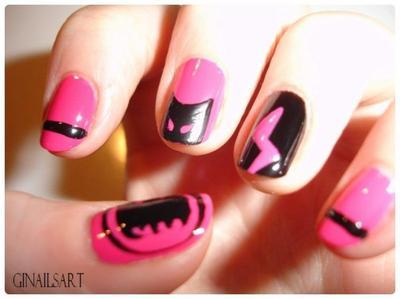 Nail art : Batgirl