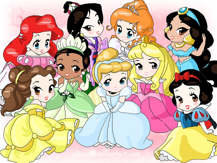 Princesses chibi