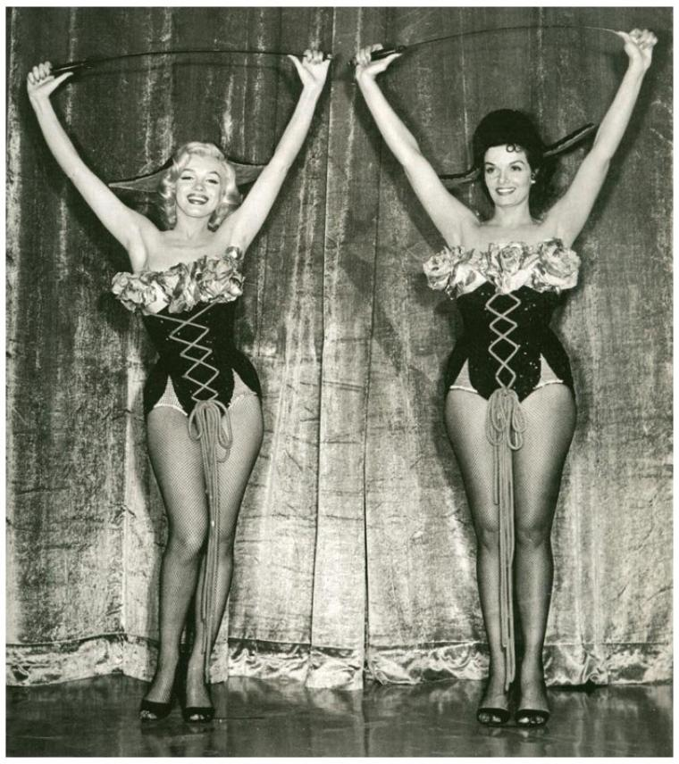 "DUO de CHARME avec Marilyn MONROE et Jane RUSSELL in ""Gentlemen prefer blondes"" (1953)"