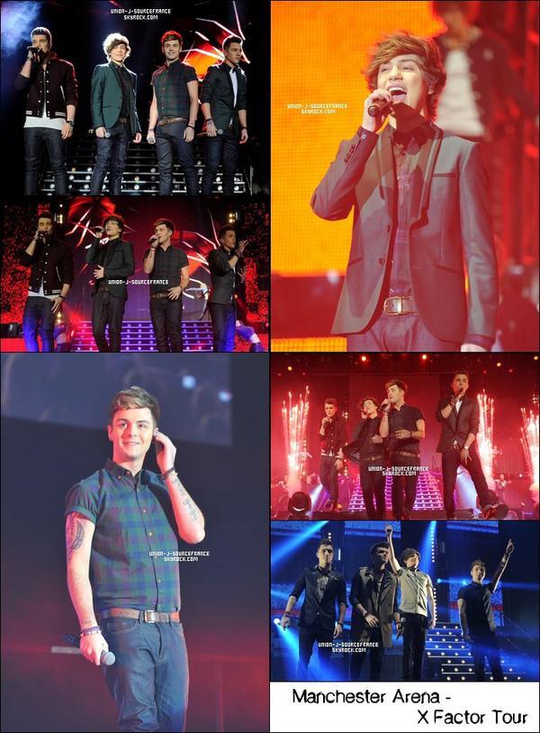 Union J au Manchester Arena pour le X Factor Tour - 26/012013