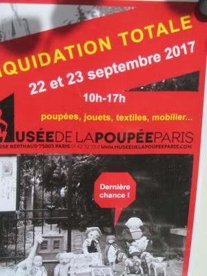 MUSEE DE LA POUPEE  DERNIERE REUNION