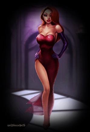 Jessica Rabbit chante, dans son rôle de femme fatale envoûtante et sensuelle, la chanson Why Don't You Do Right interprétée par Amy Irving.
