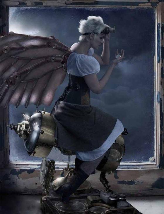 """Paris, les ailes déployées, brandissait de sa main droite la torche éclairant le monde. La nuit, je le savais, une pluie d'argent jaillirait et retomberait en poussière diamantée sur les eaux finement ridées ; puis l'or flamboierait au haut de la gerbe et se volatiliserait dans des tons d'opales, qui se dégraderaient à leur tour pour se noyer dans un doux flot d'émeraude. """""""