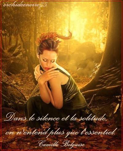 Le silence a la vertu d'apaiser la colère, contrainte de se taire, elle ne sait plus à qui parler.....