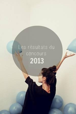 Les résultats du concours 2013