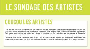 LE SONDAGE DES ARTISTES